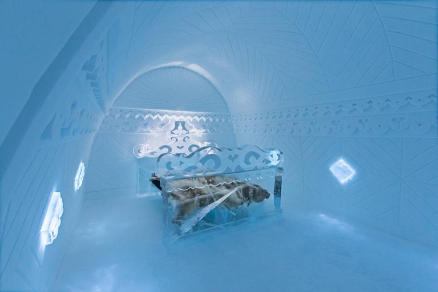 wego专业主题酒店设计公司分享时尚冰主题客房设计