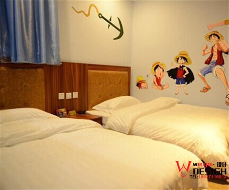 北京昌平潢京客栈主题宾馆装修设计效果图方案