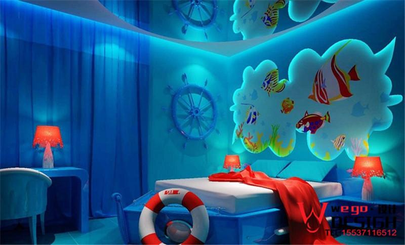 蓝色梦幻特色主题客房设计方案欣赏