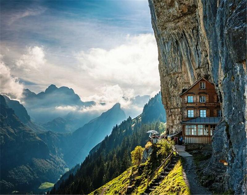 Äscher Cliff,瑞士