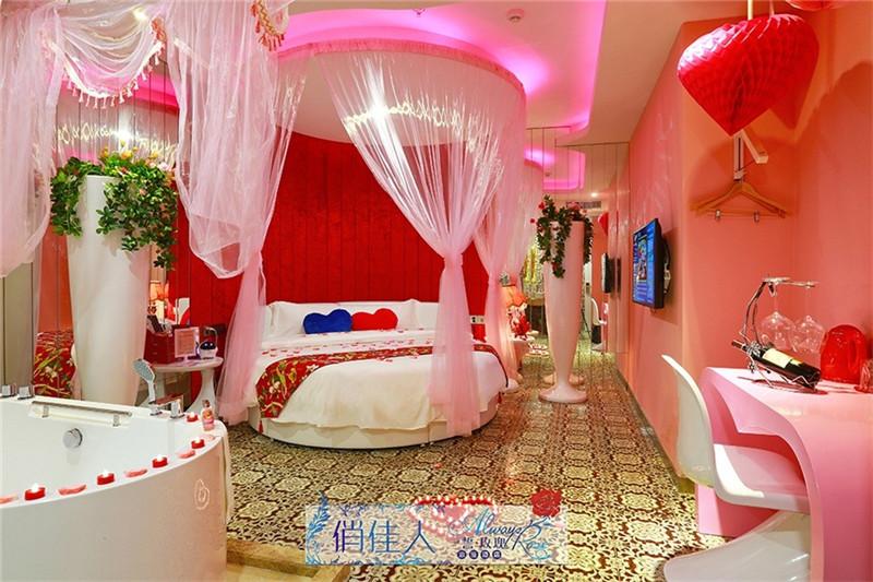深圳一誓·玫瑰情侣主题酒店装修设计实景图片