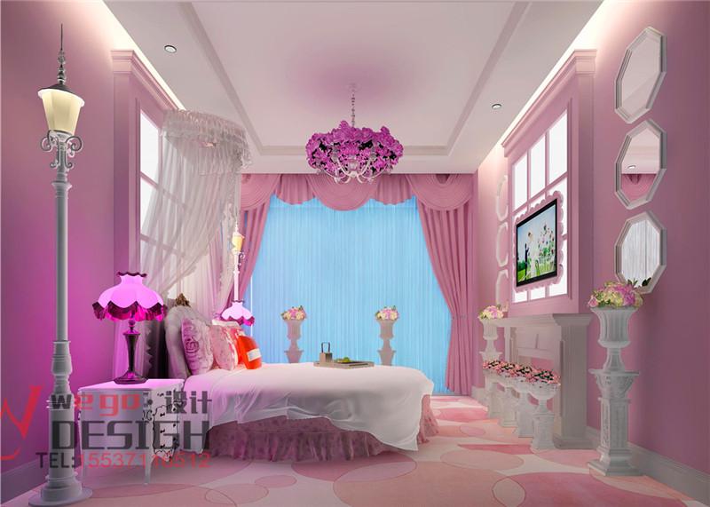 山东曲阜爱菲尔主题酒店设计-温馨浪漫无处不在