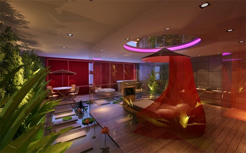 长沙天鹅恋情侣酒店客房创意设计-特色主题酒店设计方案