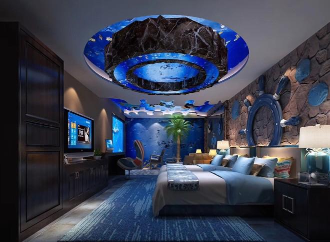 以爱之名   海洋主题情侣酒店客房设计方案合辑
