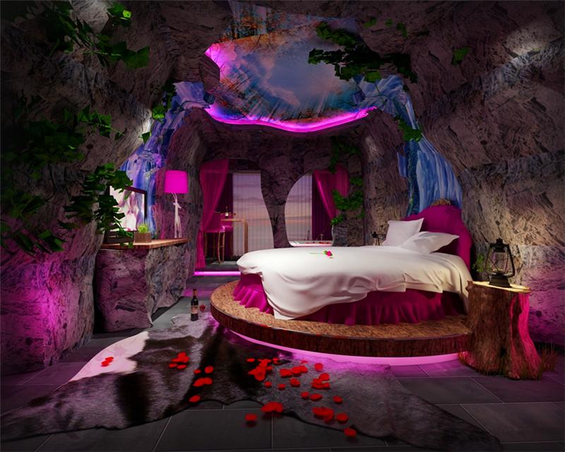 洛阳主题酒店设计公司(WEGO设计)推荐主题客房设计效果图